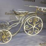 """Кованая цветочница """"Велосипед"""" - 11200 руб."""