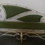Диван и кресло кованое