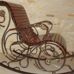 Кресло качалка кованое Курдалагон Барнаул (5)
