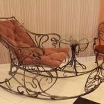 Кресло качалка кованое Курдалагон Барнаул (6)