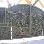 кованые ворота заказать Барнаул (24)