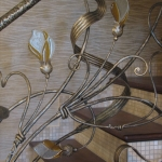 Кованые перила стеклом