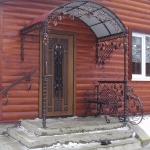 Козырек над входом Барнаул