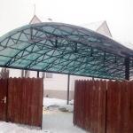 Навес из поликарбоната Барнаул Курдалагон (3)
