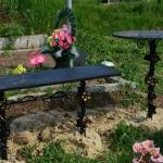 скамейка и столик для кладбища купить Барнаул